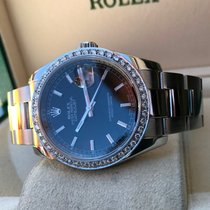 Rolex Oyster Datejust Steel White Gold Bezel 36 mm (Full Set...
