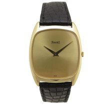 Piaget 9591 black tie-emperador mecanique en or 18k gold watch