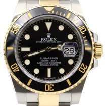 Rolex Submariner 116613LN 40mm Black Ceramic Yellow Gold...