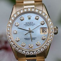 Rolex Ladies Midsize President 18k Yellow Gold 1959 Diamond...
