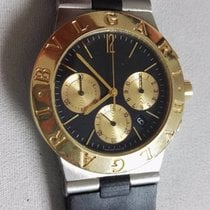 Bulgari Diagono chrono steel and gold rare first series  serviced