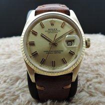 Rolex DATEJUST 1601 18K YG with Original Gold WIDE BOY Dial