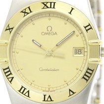 Omega Constellation Date 18k Gold Steel Mens Watch 396.1070...