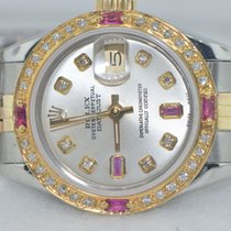 롤렉스 (Rolex) Datejust Oyster Perpetual 18K Gold Diamonds / Rubies
