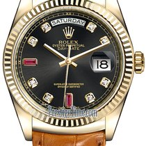 Ρολεξ (Rolex) Day-Date 36mm Yellow Gold Fluted Bezel 118138...