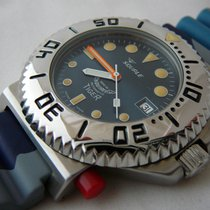 Squale TIGER 064 VINTAGE  300mt - blue dial, camouflage strap