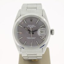 Rolex Date 34mm Steel GREYDIAL (BOX1980) MINT