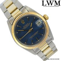 Rolex Datejust 6827 steel yellow gold 18KT blue dial 1976's