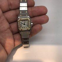 Cartier Santos Automatic 18k Gold &steel Ladies Diamond...