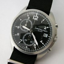 Hamilton KHAKI AVIATION PILOT PIONEER CHRONO QUARZO Black...