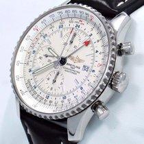 Breitling Navitimer A24322 Chronograph World Gmt 46mm Watch...