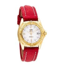 Breitling K52045.1 Callistino in Yellow Gold - on Red Calfskin...