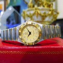 Omega Constellation 18k Gold Stainless Steel Diamond Quartz Watch