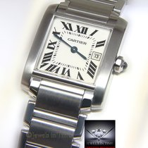 Cartier Tank Francaise Stainless Steel Quartz Ladies Midsize...