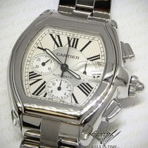 Cartier Roadster Chronograph XL Stainless Steel Silver Dial...