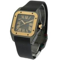 Cartier W2020007 Cartier Santos 100 in PVD - Rose Gold Bezel -...