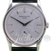 Patek Philippe 5196G-001 Calatrava 37mm Silver Gray Index...