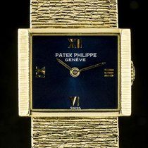 Patek Philippe 18k Yellow Gold Blue Dial Vintage Ladies...
