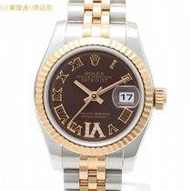 ロレックス (Rolex) ロレックス 179171 G番 チョコレートブラウンローマ Yダイヤ
