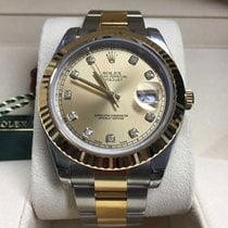 Rolex Datejust II SS/18K Yellow Gold/Champagne Diamond Dial