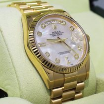 Rolex President Day-date 118238 18k Yellow Gold Fact Mop...
