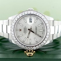Rolex Datejust II 41MM Silver Stick Dial Oyster 116300...