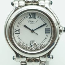 Chopard Happy Date Diamonds White Dial Stainless Steel 27/8236-23