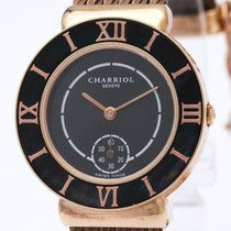 Charriol St-tropez Black Mop Bezel Pink Gold Plated Quartz...