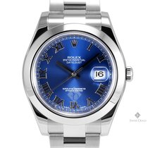 Rolex Datejust II Stainless Steel Blue Roman Numeral Dial...