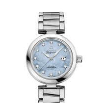 Omega 42530342057003 De Ville Ladymatic Blue Pearl Diamonds