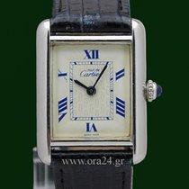 Cartier Must de Cartier Tank 925 Silver 18k White Gold Plated