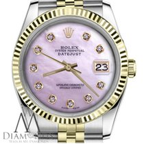 Rolex Pink Mother Of Pearl With Diamond Numbers Rolex 31mm...