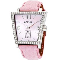 Corum 106.404.47 Trapeze with Diamonds - Steel on Strap with...