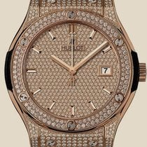 Hublot Classic Fusion King Gold Full Pave