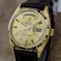 Rolex 1803 Swiss 18K Solid Gold Mens 1977 Day Date Automatic...