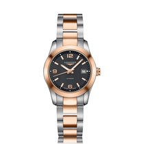Longines Conquest Classic Rose Gold Plated Automatic Ladies...