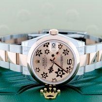 Rolex Unworn Rolex Datejust Midsize 2-Tone Floral Dial 31mm...