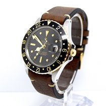 Rolex GMT Master 1675 Nipple Dial 18K Gold Vintage