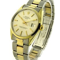 Rolex Used 1550 Mens 2-Tone - Circa 1977 - White Stick Dial