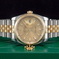 Rolex Datejust Stahl/Gold Rehaut-Gravur aus 2007 Referenz 116233