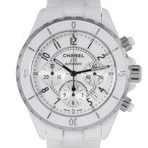 Chanel J12 White Ceramic Chronograph, Ref: H1007