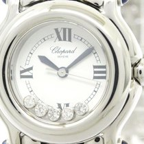 ショパール (Chopard) Polished Chopard Happy Sport Diamond Quartz...