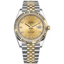 Rolex Datejust II Steel and Yellow Gold  Champagne Diamond...
