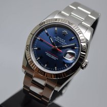 Rolex Datejust Turn-O-Graph 36mm Steel Blue Engraved from 2006