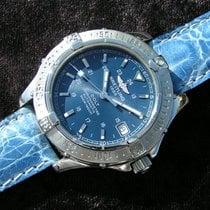 Breitling Colt Blaues Zifferblatt A17350 Stahl Steel