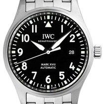 IWC Pilot Mark XVIII Matte Black Dial Steel Bracelet Automatic...
