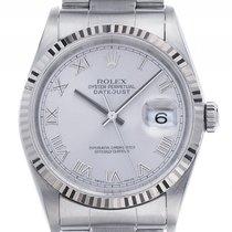 Rolex Datejust Stahl Weißgold Automatik Armband Oyster 36mm...