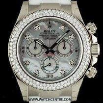 Rolex 18k W/G Unworn O/P MOP Dial Diamond Set Daytona B&P...