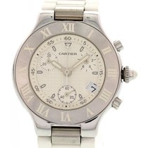 Cartier Chronoscaph 21 Stainless Steel Watch 2424
