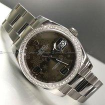 Rolex - Date Just 116234  Customized Diamond Bezel Steel
